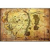1art1 62844 Der Hobbit Poster - Landkarte Von Mittelerde, 91 x 61 cm
