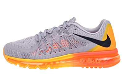 new product 47ed3 70c5f Nike Air Max 2015 Mens Running Shoes, WOLF GREY BLACK-TOTAL ORANGE-