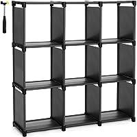 SONGMICS 9 Cube DIY Cube Storage Shelves Open Bookshelf Closet Organizer Rack Cabinet