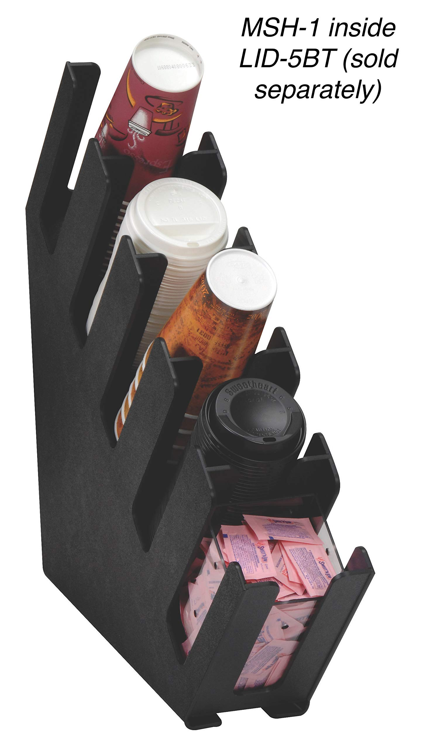 Dispense-Rite MSH-1 Countertop Wrapped/Unwrapped Straw Holder by DISPENSE-RITE