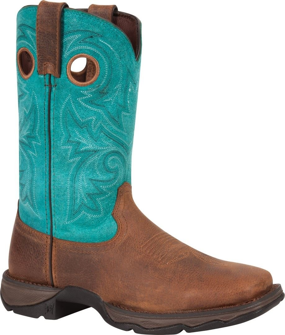 Durango Women's DWRD022 Western Boot, Brown/Turquoise, 8 M US