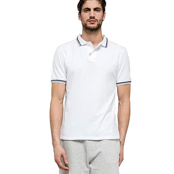 Sundek - Polo de algodón piqué, entallado ajustado y clásico, logo ...