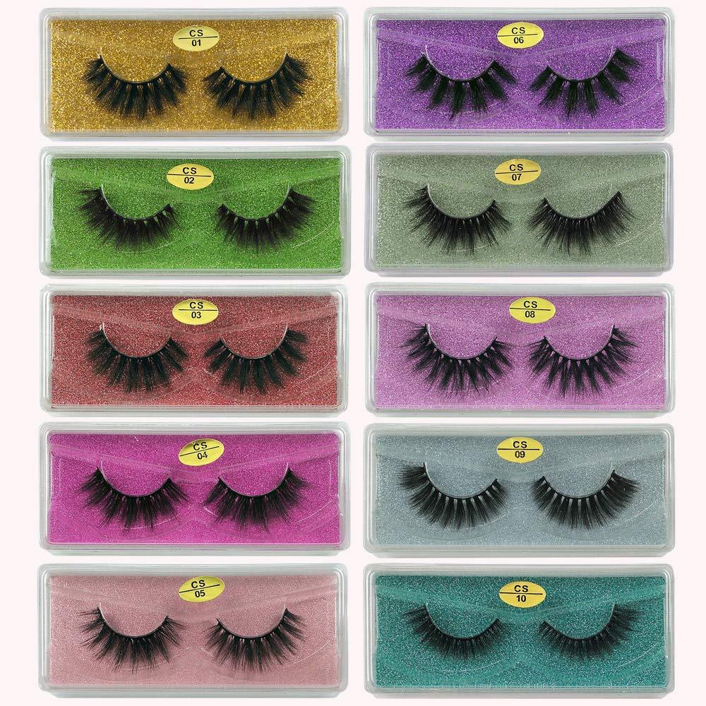 Mink Eyelashes Wholesale 10 Style 3d Faux Mink Lashes Reusable Handmade Natural Lashes False Eyelashes Pack In Bulk 10 Pairs Package Beauty Amazon Com