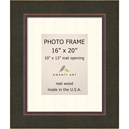 amazon com amanti art picture frame 16x20 matted to 10x13 milano