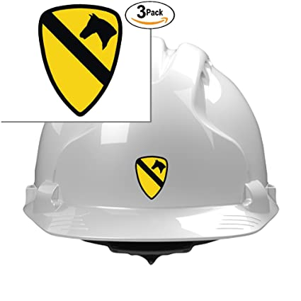 Amazon 3 Us Army 1st Cavalry 2x1 Size Stickers For