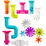 Boon BUNDLE Building Toddler Bath Tub Toy with Pipes, Cogs and Tubes for Kids Aged 12 Months and Up, Multicolor (Pack of 13)