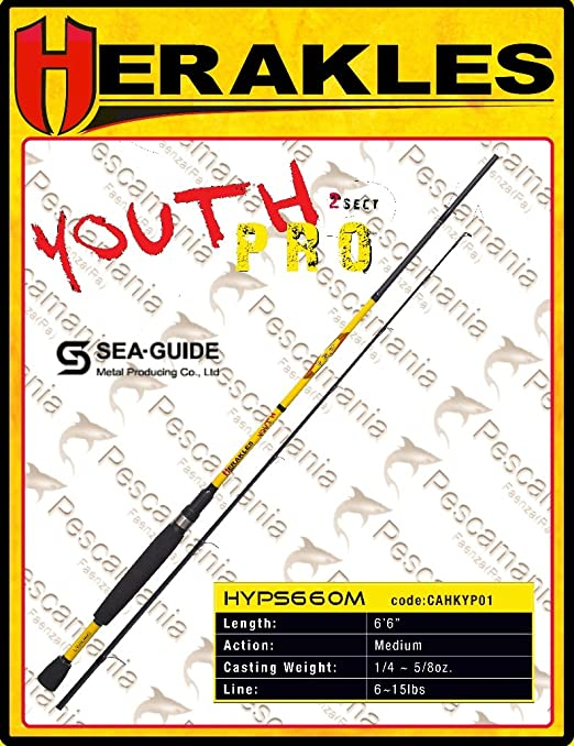 Caña de pescar para spinning Colmic Heracles Youth PRO 182,88 cm ...