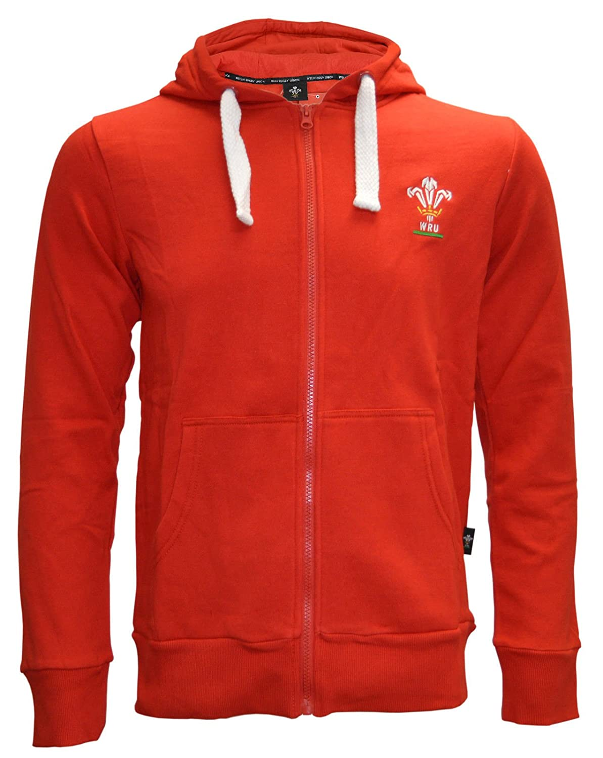 2dec0844ad5 NEW MENS WOMENS WELSH WALES ZIP UP OFFICIAL WRU RUGBY WARM RED HOODIE TOP  W-023: Amazon.co.uk: Clothing