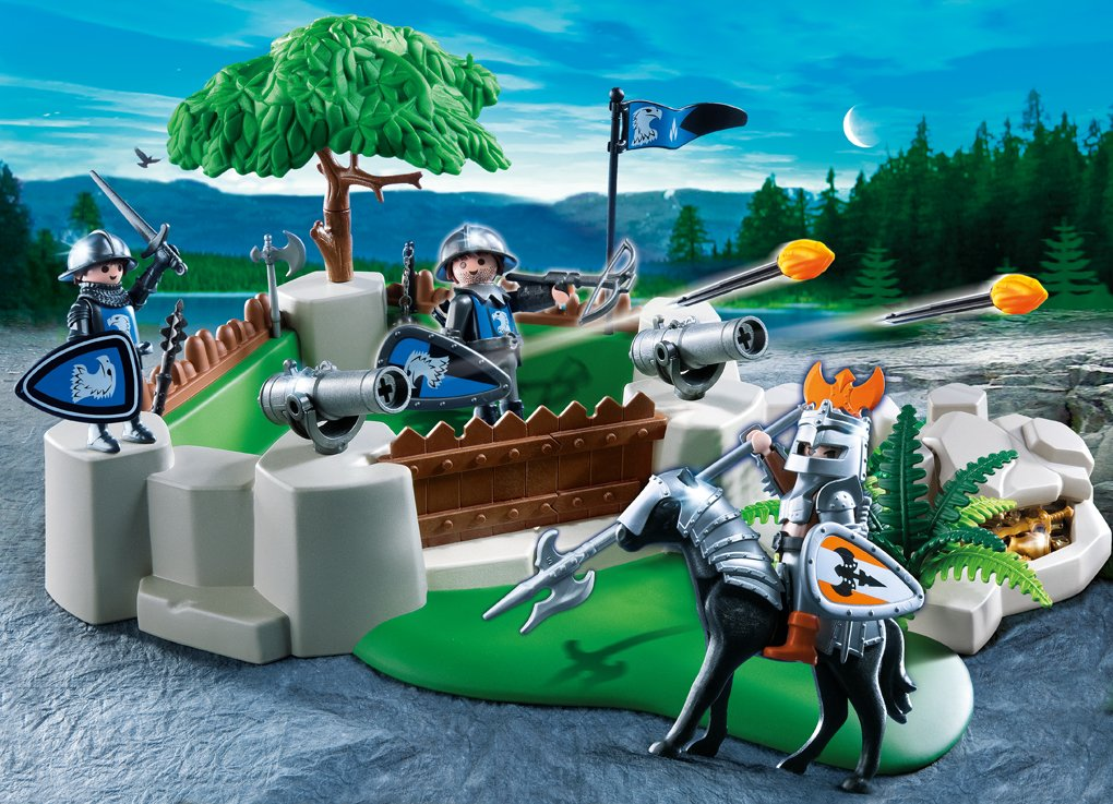 amazoncom playmobil superset knights fort toys games - Playmobile Chevalier