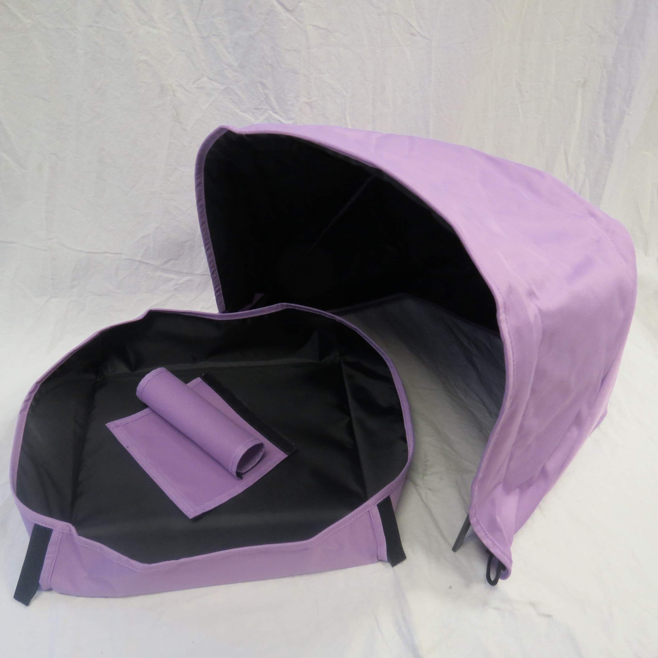 Light Purple Sun Shade Canopy with Wires and Under Seat Storage Basket Plus Free Handle Bar Covers for Bugaboo Cameleon 1, 2, 3, Frog Baby Child Strollers by Ponini (Image #2)