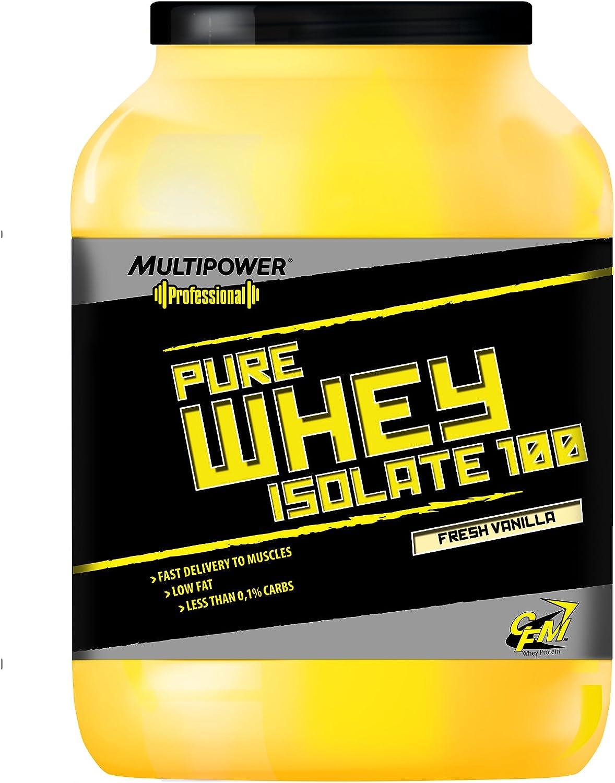 Multipower - Proteína de whey isolada fresa, 2,25kg: Amazon ...