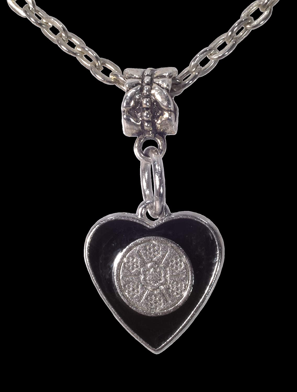 ViciBeads Pendant Free 20 Chain Bag Unisex Black Enamel Dangle Heart Pendant Charm