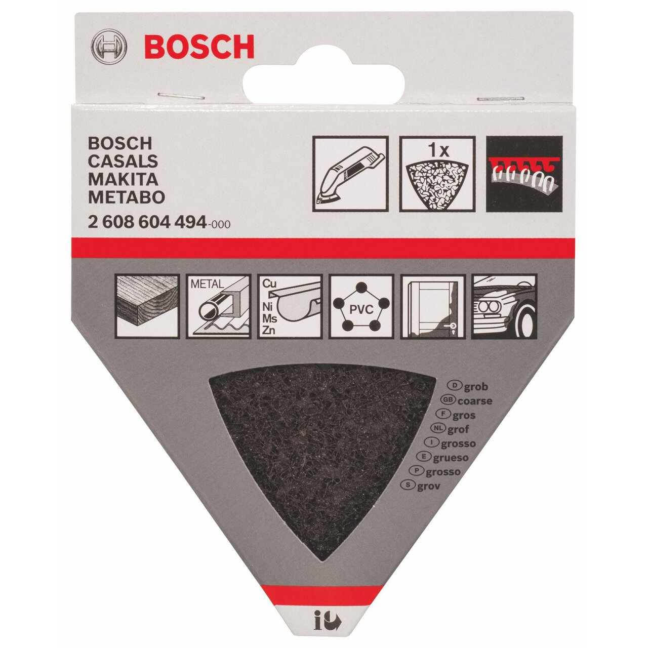 93 mm Bosch Professional 2608604494 Disque Peau Rouge