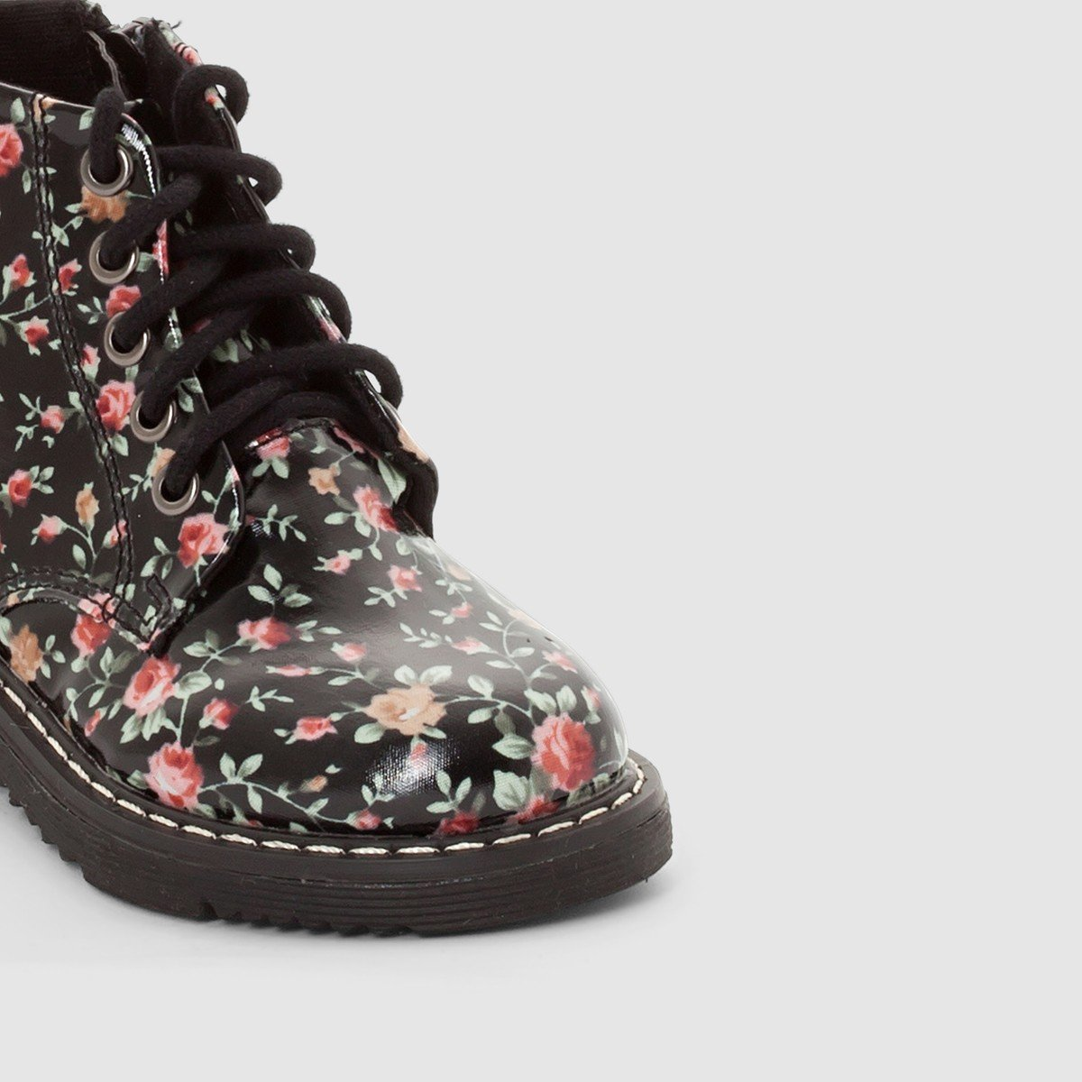 La Redoute Collections Big Girls Patent Top Boots With Laces And Zips Other Size 21