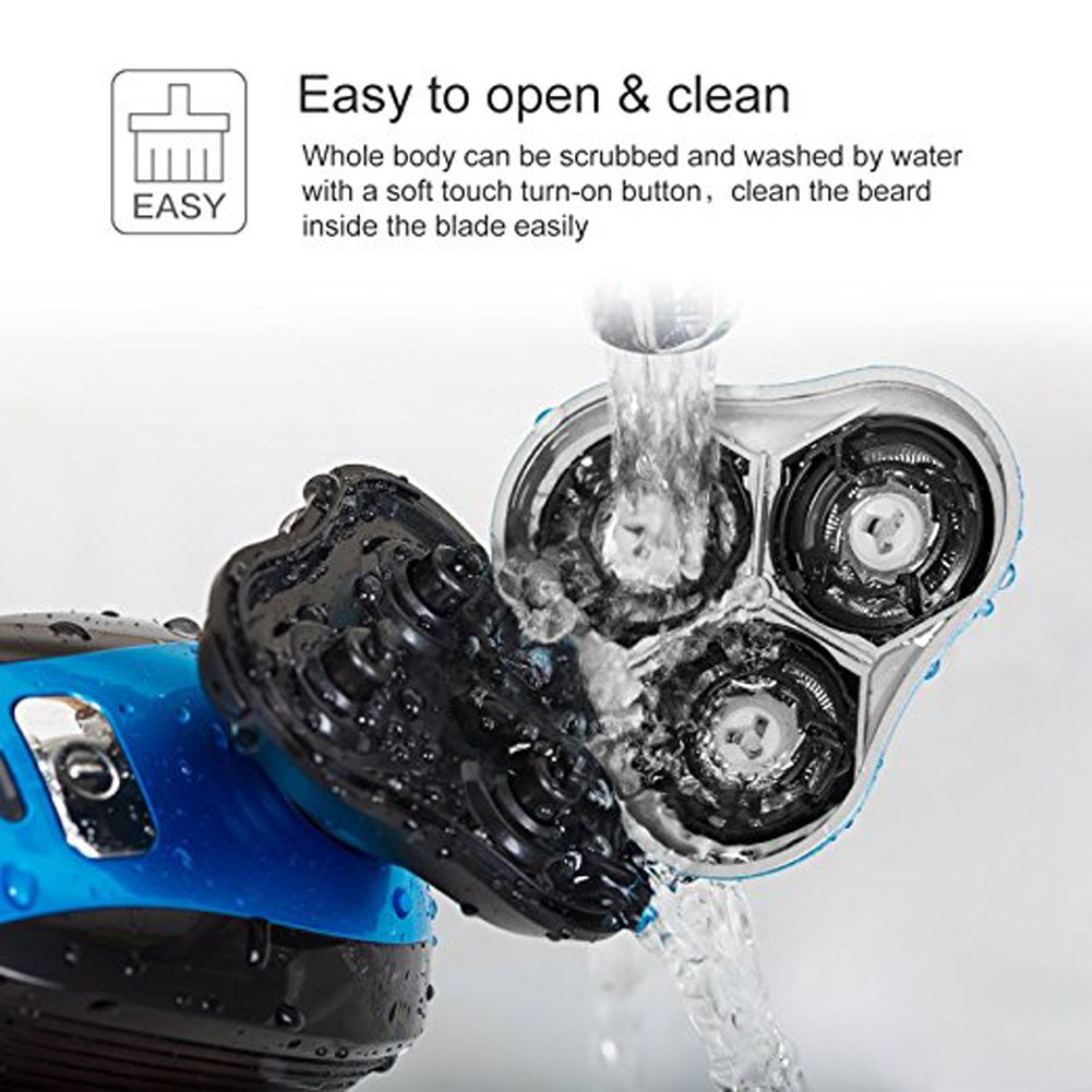iXpro Rotativa Afeitadora Eléctrica para los hombres Depiladora eléctrica  inalámbrica seco   húmedo Cortapelos de Cuerpo Precisión de Facial  Recargable  ... 30403ff5799d