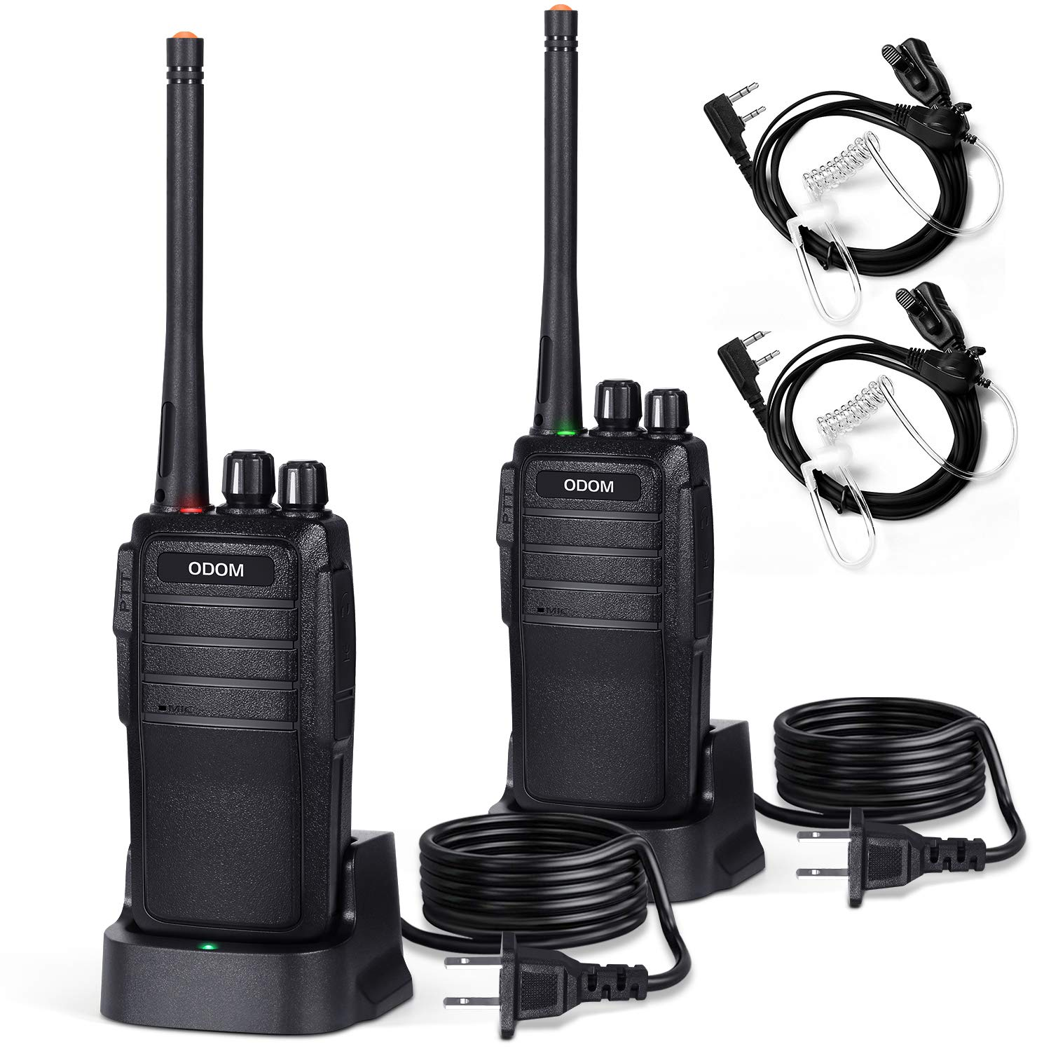 Two Way Radios Long Range Rechargeable Walkie Talkies for Adults - 16 Channels Handheld 2 Way Radio with Earpiece Headset