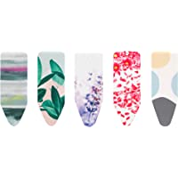 Brabantia 264825 Bright Ironing Board Cover with 4mm Foam, L 124 x W 45 cm, Size C, Assorted Colours
