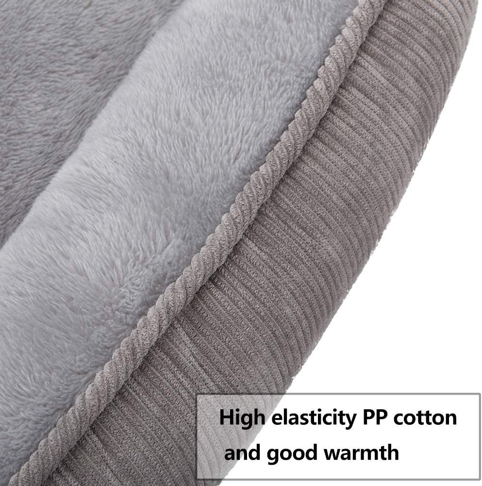 Hollypet Self-Warming Pet Bed for Small Medium Dog Cat Plush Rectangle Nest Puppy Sleeping Bag Cushion Pure Gray M