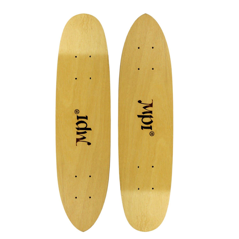 MPI Vintage NOS 2-Pack Old School Skateboard Deck Light Wood Kicktail Cruiser
