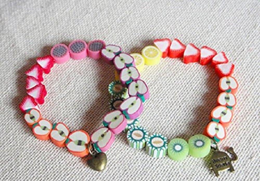 Dragonfruit Slice Bead Handmade Ceramic Bracelet Ceramic Jewelry