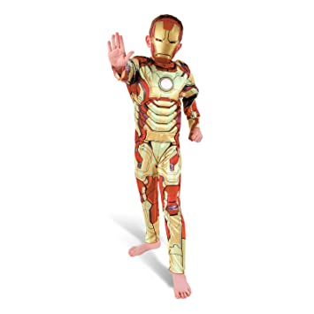 Iron Man 3 - Avengers - Niños Disfraz - Medium - 116cm: Amazon.es ...