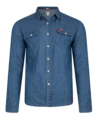 Lee Cooper Charrisworth camisa de tela vaquera de manga larga de algodón: Amazon.es: Ropa y accesorios