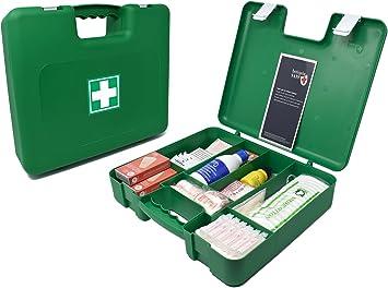 Botiquín Maletín de primeros auxilios grande - con 100 artículos indispensables para realizar curas de emergencia, verde: Amazon.es: Salud y cuidado personal