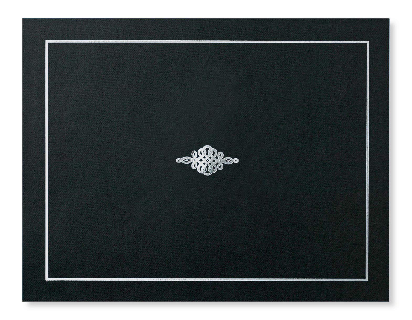 Black Certificate Jacket with Silver Foil Crest, 10 Count