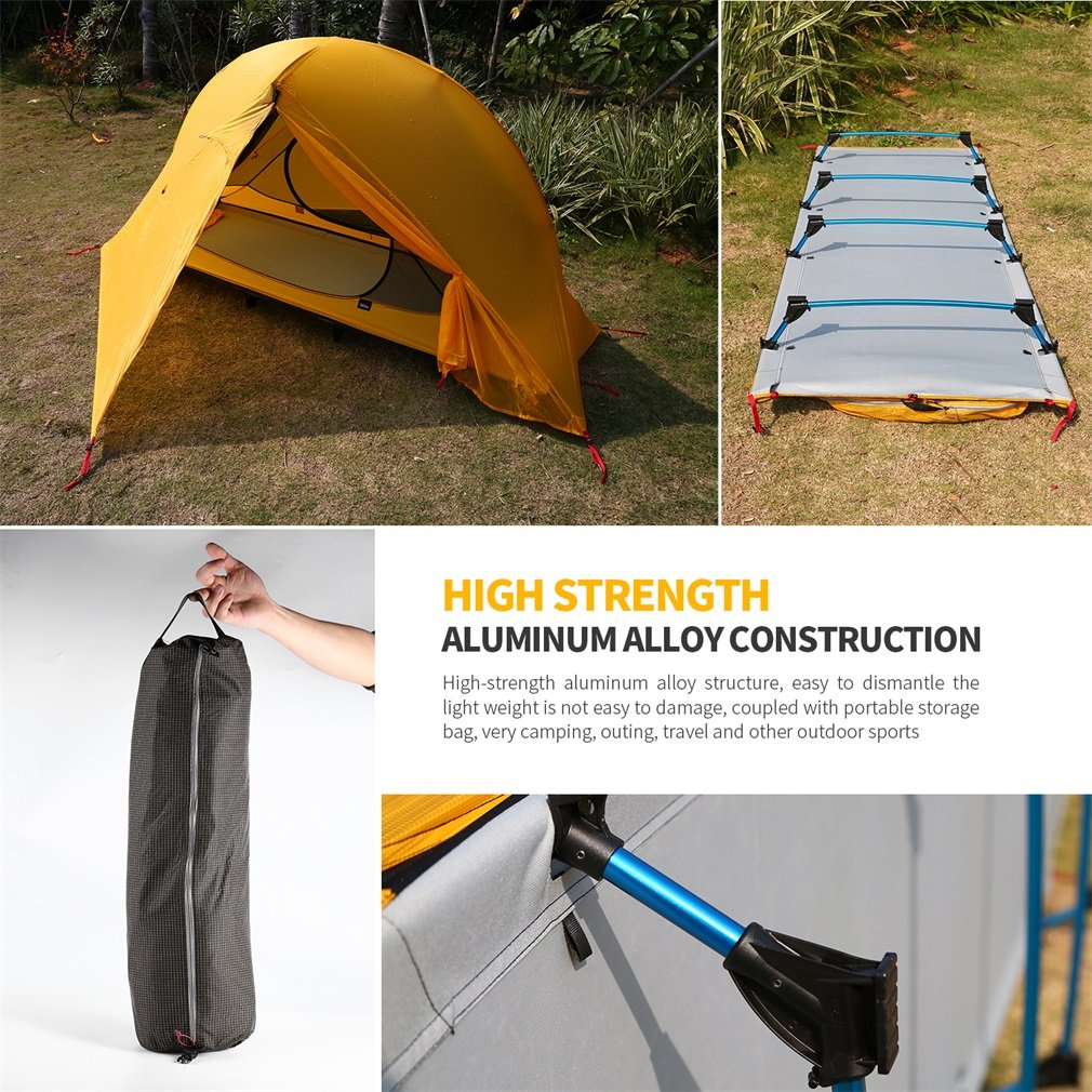 OUTAD Camping tents 15D nylon double-sided silicone tents Portable Multifunctional Off Ground Tent by OUTAD (Image #4)