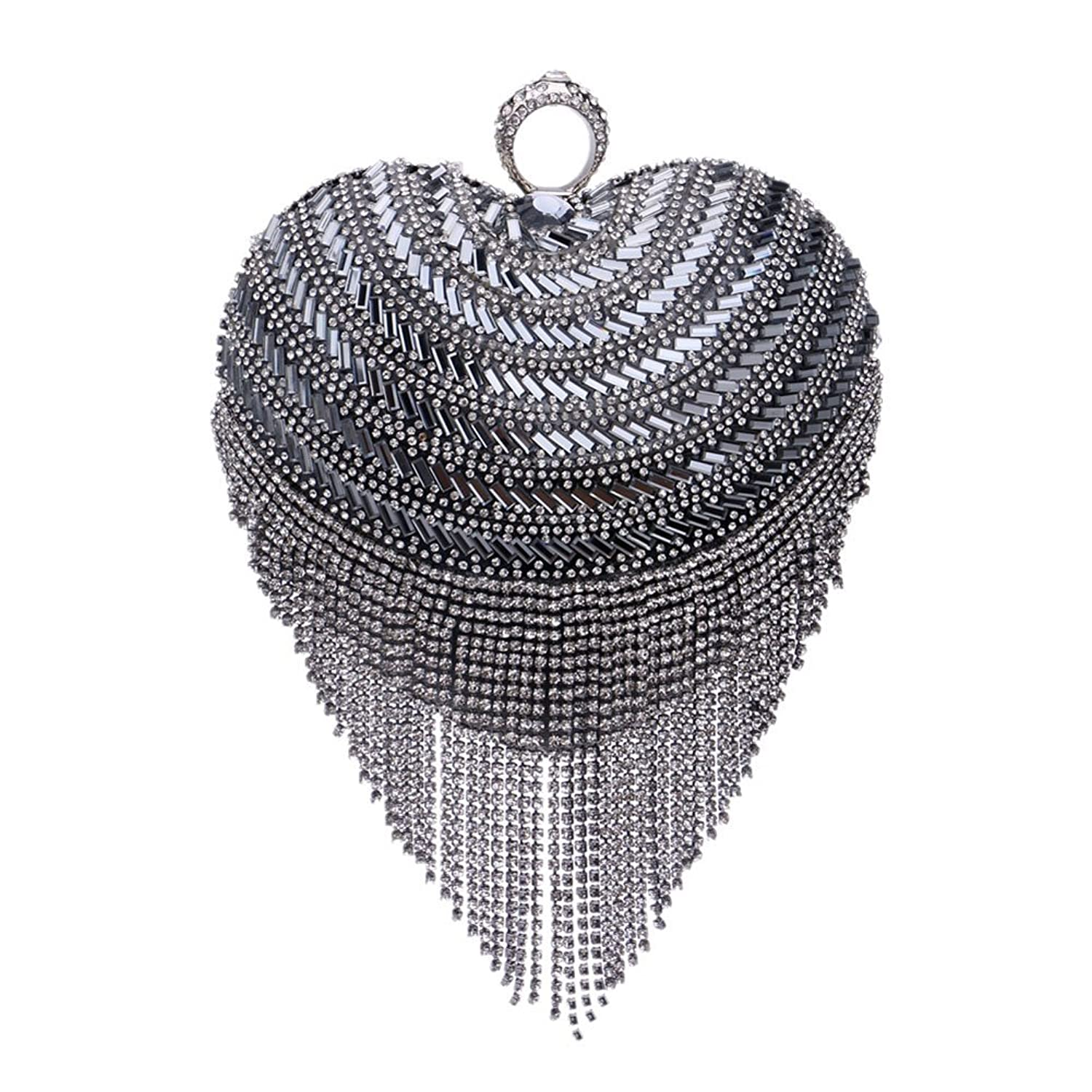 Mlotus Women's Crystal Rhinestone Evening Bag Clutch Cocktail Party Handbag