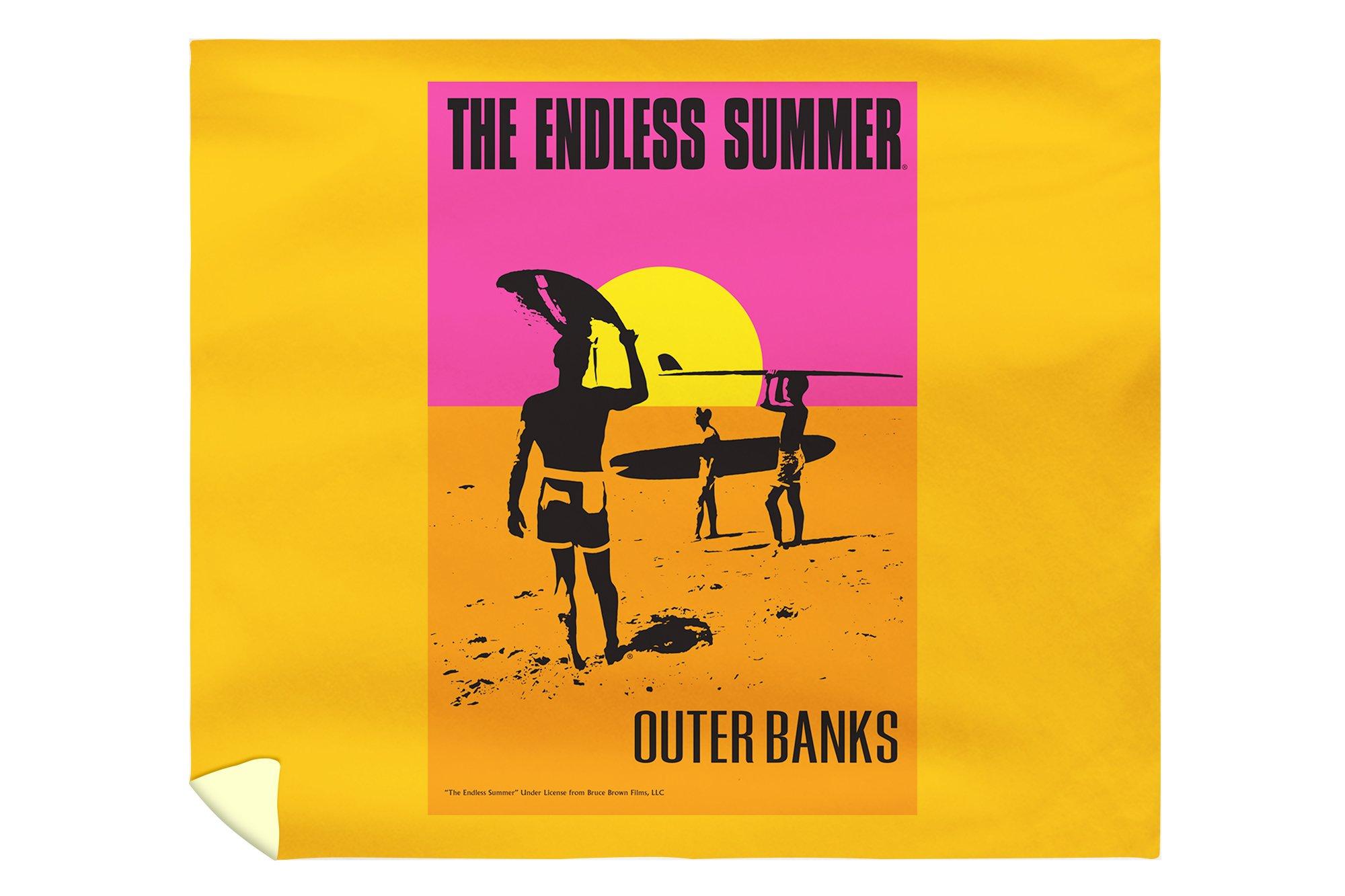Outer Banks, North Carolina - The Endless Summer - Original Movie Poster (88x104 King Microfiber Duvet Cover)