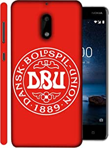 ColorKing Football Denmark 02 Red shell case cover for Nokia 9