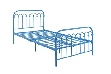 novogratz bright pop twin metal bed turquoise - Twin Iron Bed Frame
