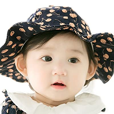 ad2ee615ed6 APAS Baby Boys Girls Cute Cherry Fruit Wide Brim Sun Visor Hat Cap 0-6