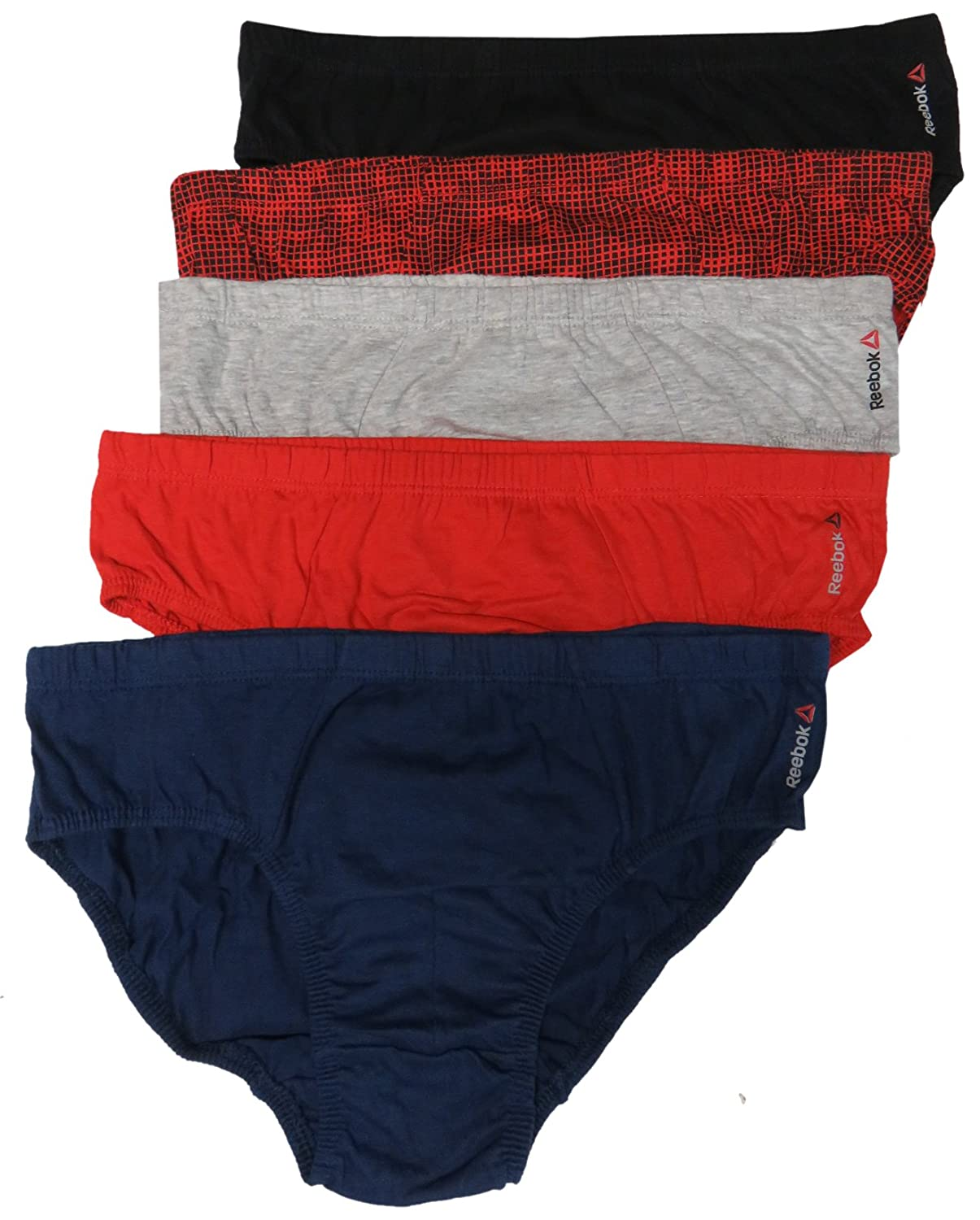 Size X-Large 40//42 Multi, Reebok Mens Low Rise Briefs Pack of 5