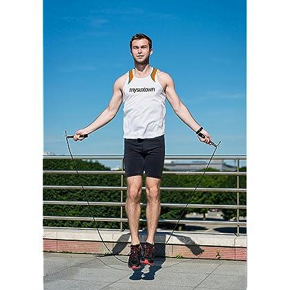 Mysuntown Speed Jump Rope, Fully Adjustable, Super Lightweight & Durable - Best for Fitness Training