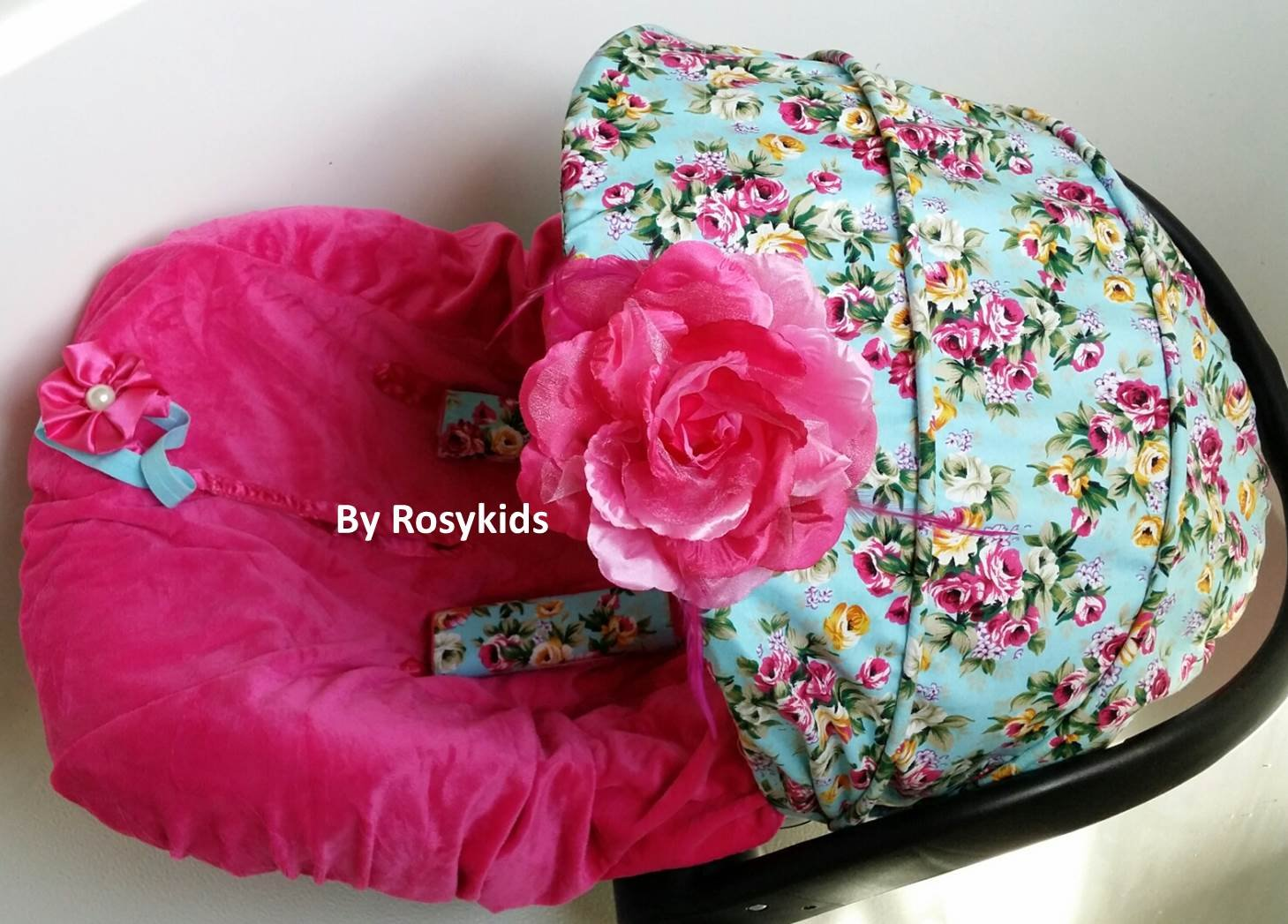 Amazon.com Infant Carseat Canopy Cover 3 Pc Whole Caboodle Baby Car Seat Cover Kit Floral Print C010101 Baby : baby canopy cover - memphite.com