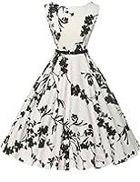 GRACE KARIN® Donne Vestiti Estivi Vintage Linea Ad A Casual Cocktail Vestito Cotone IT6086