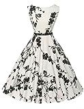 GRACE KARIN® Gonna Anni 1950 Donne Vestiti Estivi Vintage Cocktail Vestito Cotone XS~Taglie Forti 4X