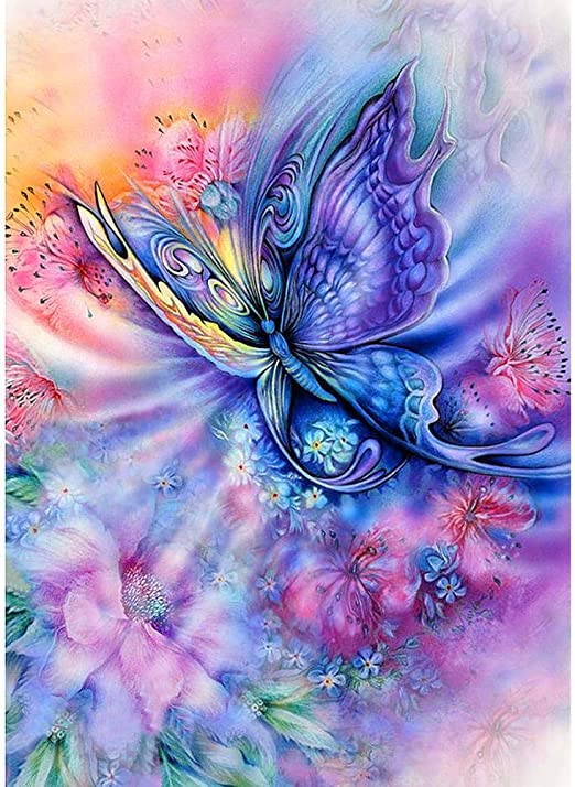5D DIY Full Drill Diamond Painting Butterfly Cross Stitch Mosaic Embroidery Kits