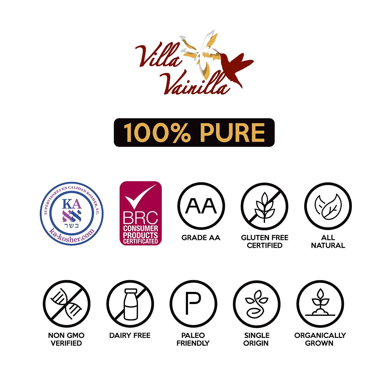 Villa Vainilla pure vanilla extract (8.4 fl.oz.) - Made with Premium, Hand-Picked Vanilla Beans - genuine and Natural Gourmet Flavor from Mexico - Kosher, vegan, GF by Villa Vainilla (Image #9)