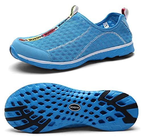 Mens/Womens Lightweight Soft Mesh Draining Holes Slip-on Beach Walking Pool Swimming Water Shoes