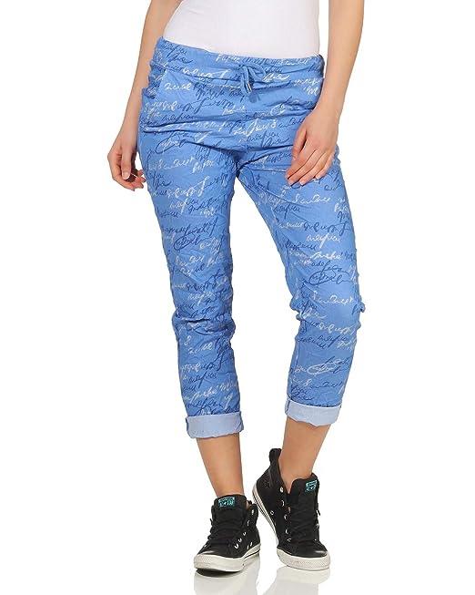 05b8ebae41 ZARMEXX Pantalones de chándal para Mujer Pantalón de Verano Estilo  Boyfriend boygy Estiramiento en Toda la impresión Un tamaño  Amazon.es   Ropa y accesorios