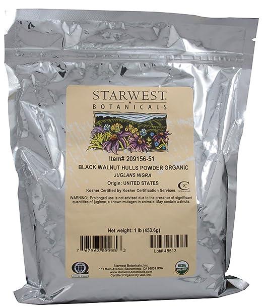 Black Walnut Hull Powder Organic - Starwest Botanicals 1 lb