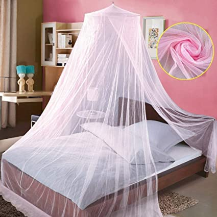 Image Unavailable & Amazon.com: Canopy for Girls Bed Mosquito Net(Pink). Mosquito Lace ...