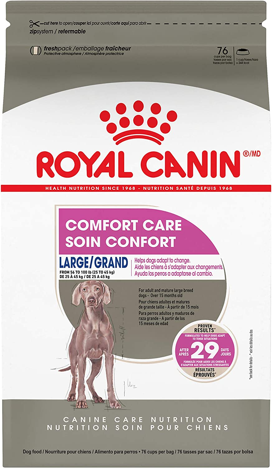 Royal Canin Canine Care Nutrition Large Comfort Care Dry Dog Food, 17 lb