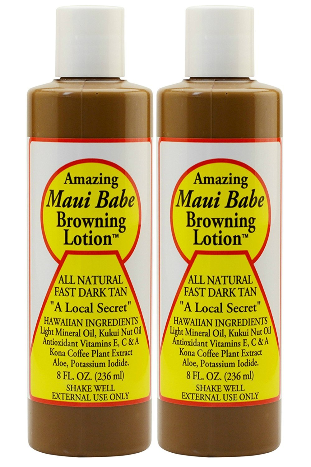 Maui Babe Amazing browning lotion 8oz 2 Count