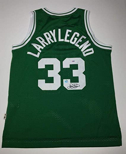 4f698aa7149 Larry Bird Signed  Larry Legend  Boston Celtics Basketball Jersey  HOF  48139 - PSA