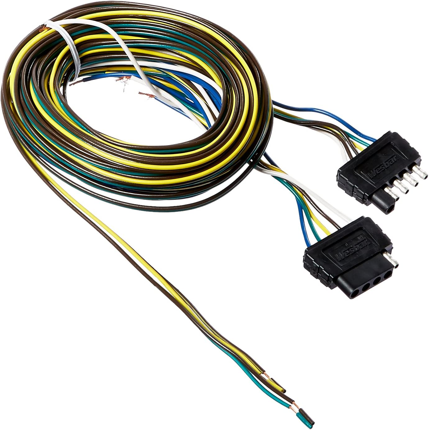 Amazon.com: Wesbar 707105 25' Wishbone Trailer Wiring Harness Kit with  Hardware: AutomotiveAmazon.com