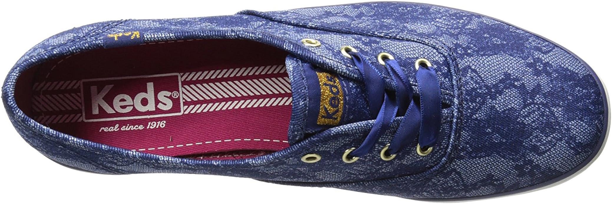 Choose SZ//color Keds Women/'s Kickstart Sneaker Blue Denim Ticking